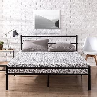 Zinus Geraldine 12 inch Black Metal Platform Bed Frame with Headboard and Footboard / Premium Steel Slat Support / Mattress Foundation, King