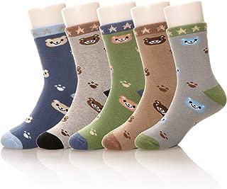 Eocom 5 Pairs Children's Winter Warm Cotton Socks Novelty Kids Boys Girls Socks