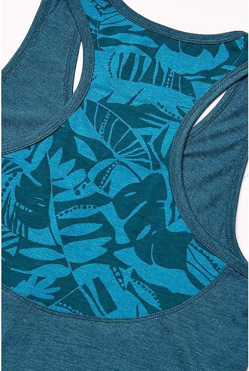 Star Gaze Blue Heather/Star Gaze Tonal Leaf All Over Print