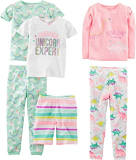 Simple Joys Carter's Girls' 6-Piece Snug Fit Cotton Pajama Set