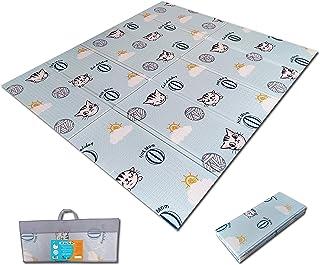 Fun N Well Foldable XPE Baby Play Mat   King Size 197x178cm   Non Allergenic & Safe Foam   Waterproof & Reversible   Fun &...