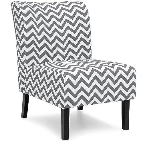 Wondrous Armless White Accent Chair Amazon Com Inzonedesignstudio Interior Chair Design Inzonedesignstudiocom