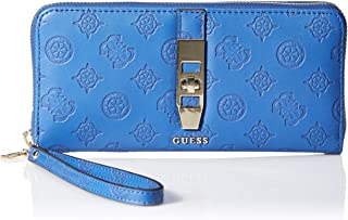 GUESS womens Peony Classic Large Zip Around Wallet