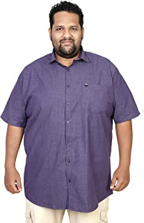 ASABA Half Sleeve Solid Shirts for Big and Broad Men in Many Fabric Options Such as Linen, Cotton, Denim, Satin, Chambrey, milange, fillafil etc. Plus Sizes AVAILAIBLE …