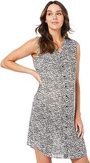 Ripe Maternity Women's Viper Shirt Dress, White/Black