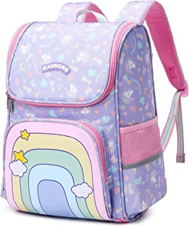 Unicorn Backpack for Girls Kids Rainbow School Bag Water Resistant Teen Girl Bookbags Elementary Children Daypack