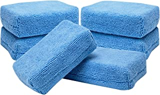 Viking Car Care 449201 Rectangular Microfiber Applicator Pads - 3 Inch x 5 Inch, Blue, 6 Pack