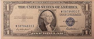 silver certificate dollar bill
