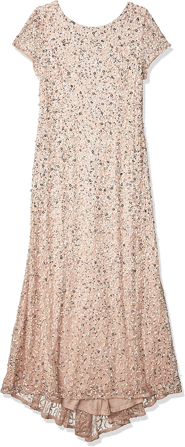 Adrianna Papell Women's Scoop Back Sequin Gown