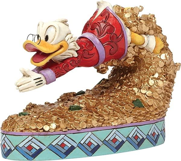 Enesco Jim Shore Disney Treasure Dive Scrooge McDuck Diving Into Money Figurine 4046055