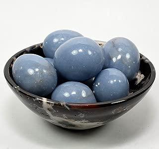 Blue Angelite Cabochon Pebble Natural Polished