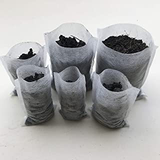 AROMA TREES 600 Biodegradable Non-Woven Nursery Bags Plant Grow Bags Fabric Seedling Pots Plants Pouch Home Garden Supply (6 Size), 600Pcs
