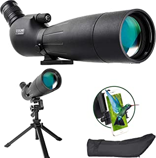 Image of ESSLNB Spotting Scope 20-60X80mm Target Spotting Scope with Updated Tripod BAK4 Angled 23mm Big Eyepiece Waterproof Spotting Scopes for Hunting Target Shooting Bird Watching