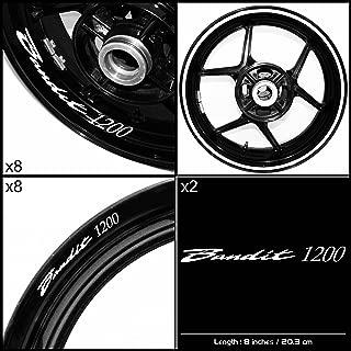 Stickman Vinyls Motorcycle Decal Gloss White Graphic Kit For Suzuki Bandit 1200