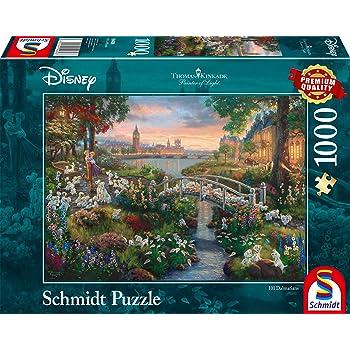 Schmidt Spiele 59475 – Thomas Kinkade, Disney, la Bella y