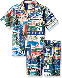 Reyn Spooner Boys' Toddler Hawaiian Christmas Cabana Shirt & Short Set