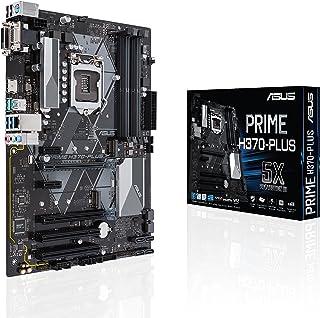 Asus PRIME H370-PLUS Scheda Madre Standard, Chipset Intel H370, Supporto Processori Intel 8 Generazione, LGA1151, ATX, Nero