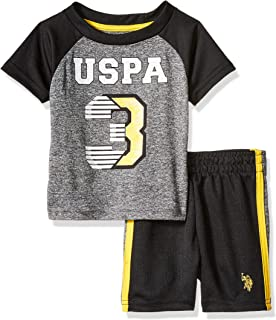 Baby Boy's 2 Piece Short Sleeve Athletic T-Shirt and...