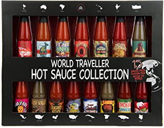 Modern Gourmet Foods, Global Chilli Hot Sauce Gift Set, 15 Inspired Hot Sauce Flavours Including Hawaiian Lava Flow, Thai-...