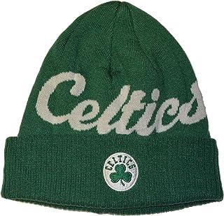 99af7361afcdcd Boston Celtics Green Script Cuff Beanie Hat - Adidas NBA Cuffed Winter Knit  Toque Cap