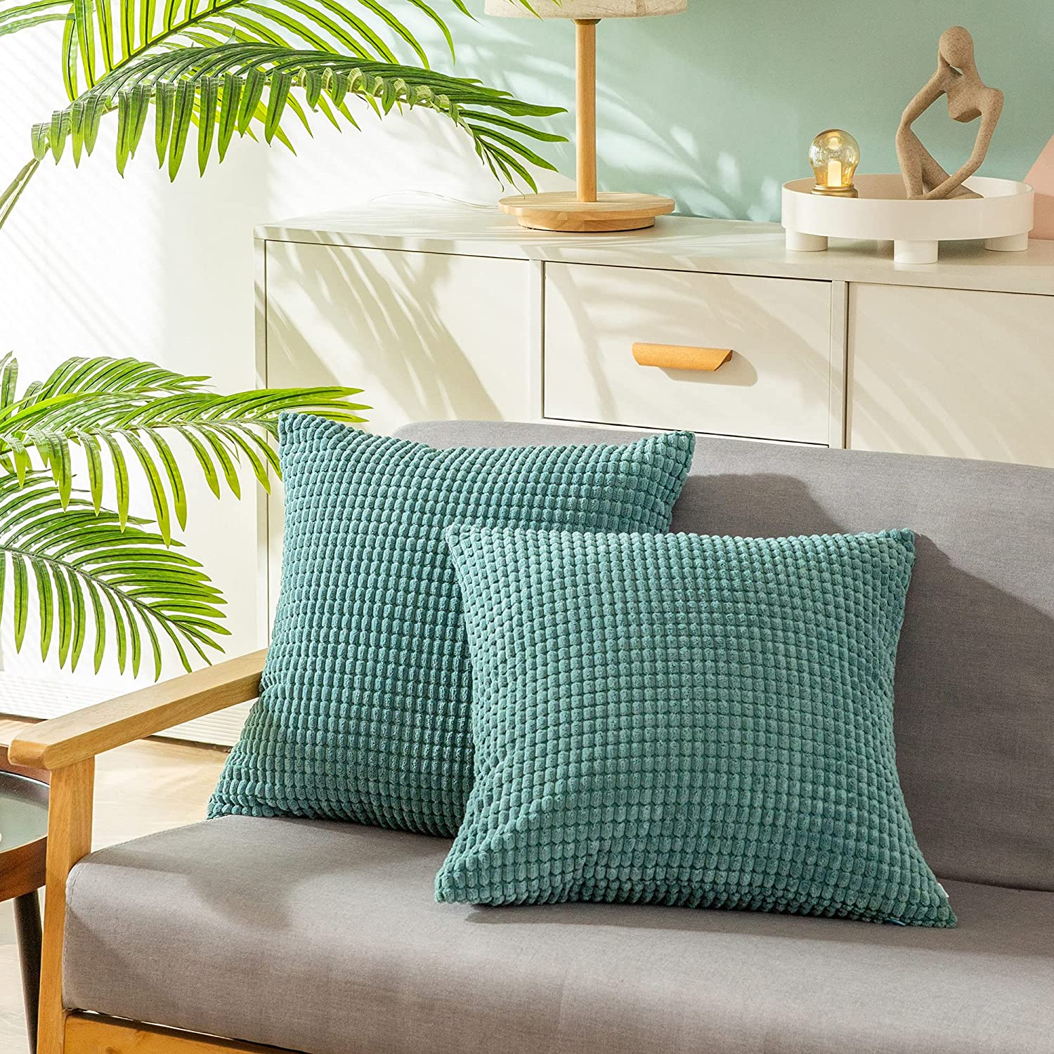 CaliTime Louisville-Jefferson County Mall Pack of 2 Comfy Throw Cases Covers Pillow for Save money Sof Couch