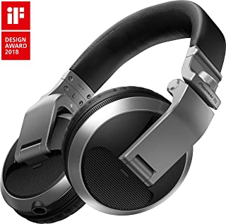 Pioneer Pro DJ DJ Headphones, SIlver (HDJ-X5-S)