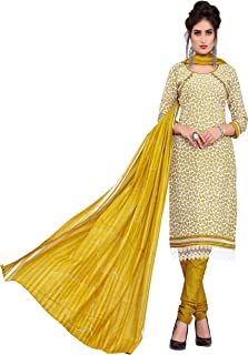 Minu salwar Cotton Printed Suit sets Olive(Pbeauty_6003_0)