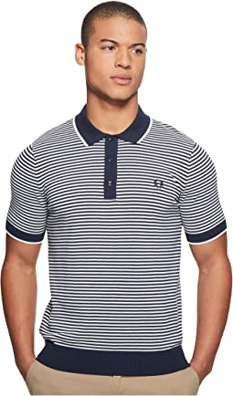 Fred Perry Fine Stripe Knitted Shirt