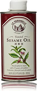 La Tourangelle Toasted Sesame Oil 16.9 Fl. Oz., All-Natural, Artisanal, Great for Stir Fry, Curries, Noodles, or as a Mari...