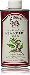 La Tourangelle Toasted Sesame Oil 16.9 Fl. Oz., All-Natural, Artisanal, Great for Stir Fry, Curries, Noodles, or as a Marinade