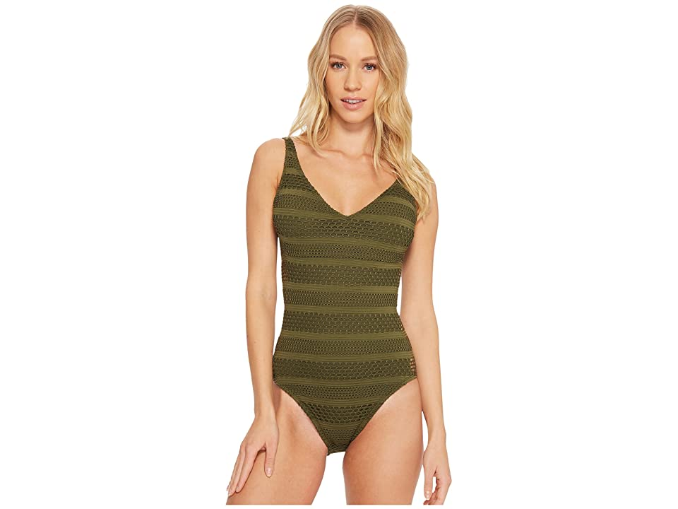 Bleu Rod Beattie Sheer Thing Scoop Neck OTS Mio (Amazon Green) Women