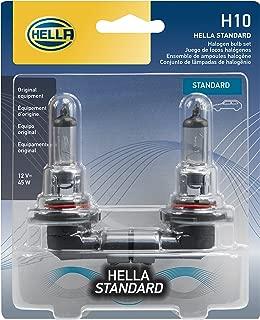 HELLA H10TB Standard-45W Standard Halogen 9145 Bulbs, 12 V, 45W, 2 Pack