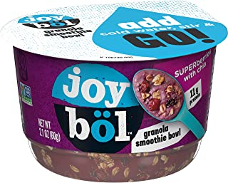 Kellogg`s Joyböl Superberries with Chia Granola Smoothie Bowls - Protein Breakfast Made Easy, Non-GMO Project Verified (6 Count)