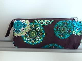 Longaberger Sisters Adorn Teal Brown Make Up Bag Large Sun Glass Case