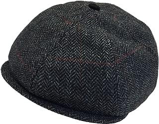 Made USA Wool Tweed Rubenstein Gatsby 8/4 Newsboy Cap Ivy...