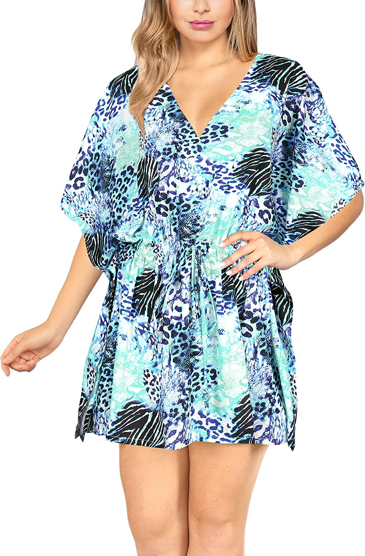 HAPPY BAY Women's Floral Print Swimwear Cover Up Loose Beachwear Summer Dress AG