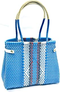 HANDMADE STRAW PURSE - Our basket bags are handmade by artisans in MEXICO. Elegant leather finishes give them a modern and classy touch. The bags are sturdy and spacious for today's modern woman.