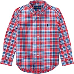 Polo Ralph Lauren Kids - Plaid Cotton Poplin Shirt (Little Kids/Big Kids)