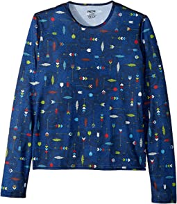 Hot Chillys Kids - Pepper Skins Print Crew Neck (Little Kids/Big Kids)