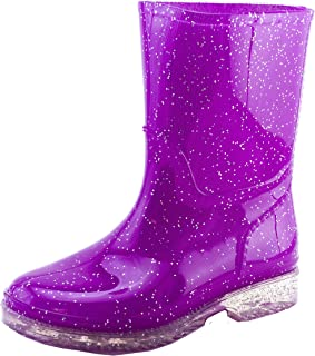 b02b494541c9 Easy USA Girls Outdoor Glitter Color Waterproof Ankle Rain Boots (Toddler/Little  Kid)