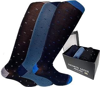 Lucchetti Socks Milano calze calzini uomo lunghe estive, in cotone mercerizzato fresco e leggero 3 paia colorate moda fashion