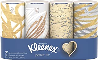 Kleenex Perfect Fit Facial Tissues, Car Tissues, 6 Packs of 4 Canisters, 50 Tissues per Canister (24 Canisters, 1200 Tissu...