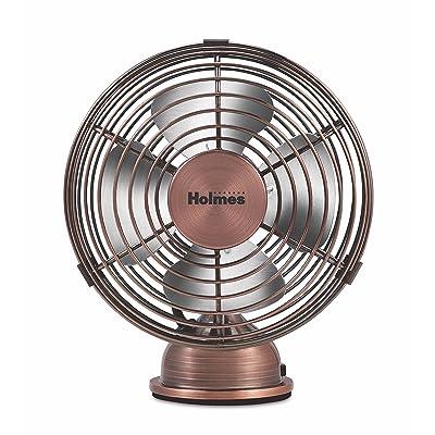 HOLMES Heritage 4-Inch Mini USB Desk Fan Brushed Copper