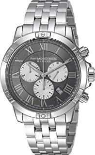 Raymond Weil Mens Tango Quartz Watch with Stainless-Steel Strap, Silver, 20 (