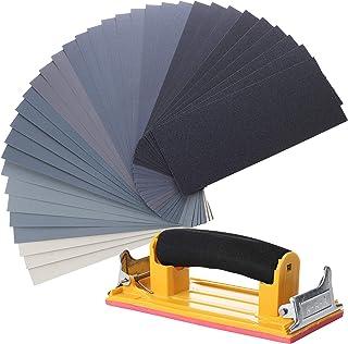 Bates- Sand Paper with 1 Handle, 36 Pack, Sandpaper, Sandpaper Assortment, Sand Paper Variety, Sanding Block, Sandpaper Bl...