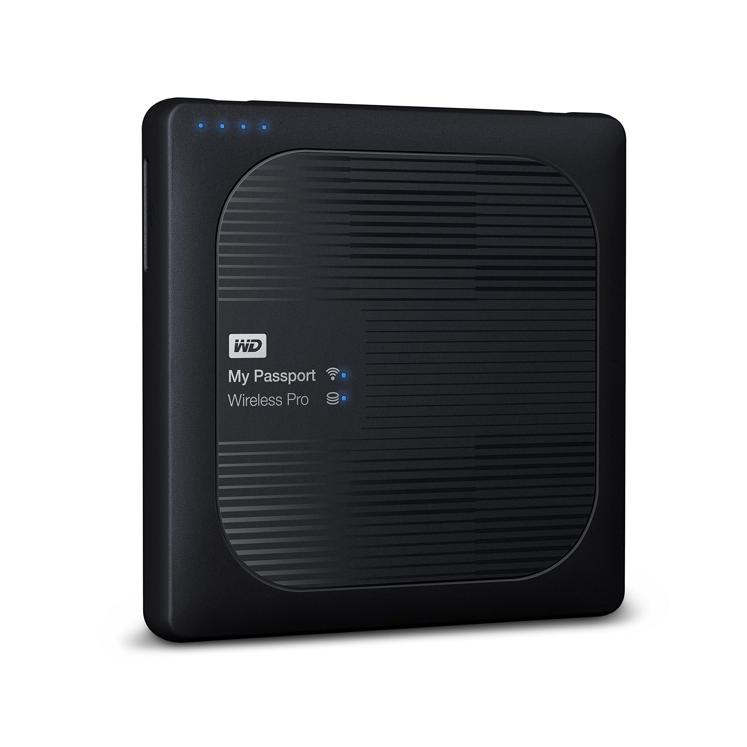Western Digital 西部数据 3TB My Passport Wireless Pro便携式外置硬盘 - WIFI USB 3.0 - WDBSMT0030BBK-NESN