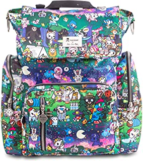 JuJuBe x Tokidoki Diaper Backpack + Messenger Bag, Be Sporty | Multi-Functional, Lightweight, Durable + Travel Friendly | Camp Toki