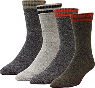 High Sierra Action-Dry Boot Socks - Assorted Colors,  Size 10 -13 / Shoe Size 6 - 12.5 - 4 Pairs