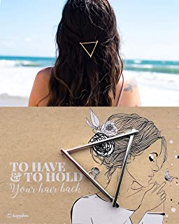 Bridesmaid Gifts Multi-Pack | Friendship Gifts | Geometric Hair Clips | Bridesmaid Proposal Box | Bachelorette Gifts | Bridal Shower Favors | Gifts for Girls | Bride Tribe (5 Pack, Silver Triangle)