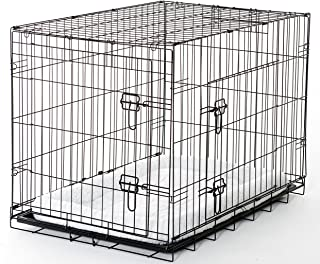 Lucky Dog Training Crate 2DR with Pad